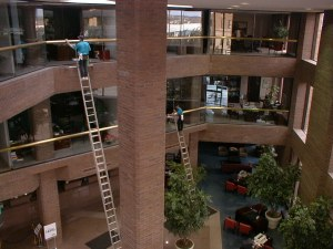 Forty Foot Ladder Work Indoors