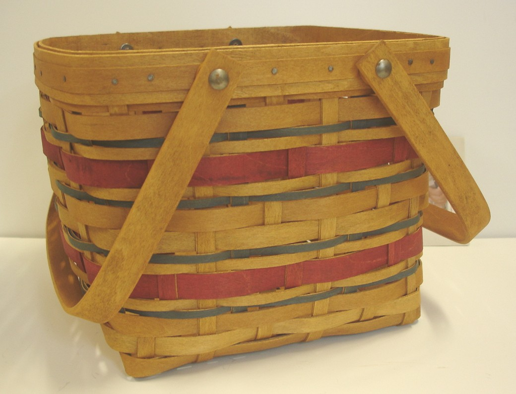 Longaberger american celebrations picnic tote basket ebay Longaberger baskets for sale