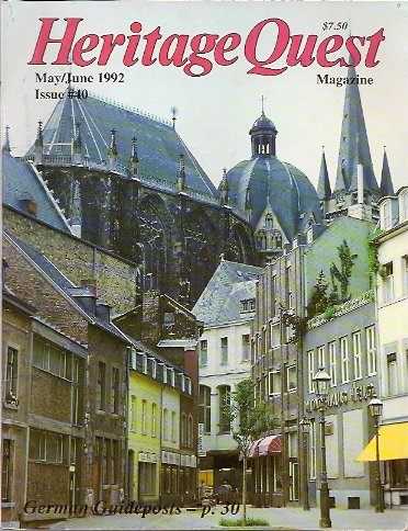 Heritage Quest Magazine #40 May/June 1992, Meitzler (Editor), Leland
