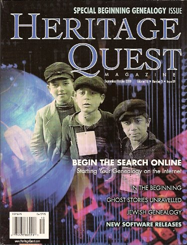 Heritage Quest Magazine #89 September/October 2000, Meitzler (Editor), Leland