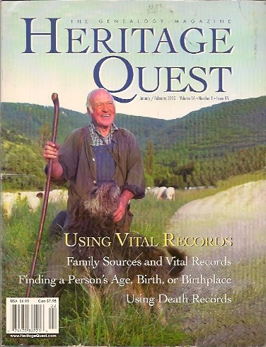 Heritage Quest Magazine #85 January/February 2000, Meitzler (Editor), Leland
