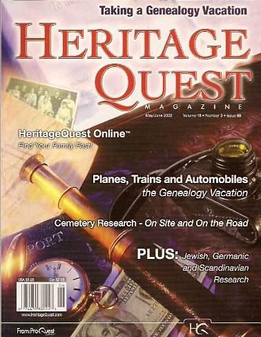 Heritage Quest Magazine #99 May/June 2002, Meitzler (Editor), Leland