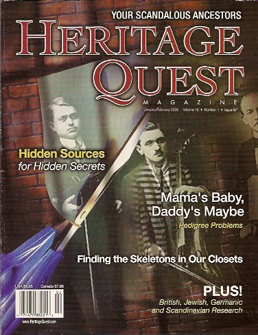 Heritage Quest Magazine #97 January/February 2002, Meitzler (Editor), Leland