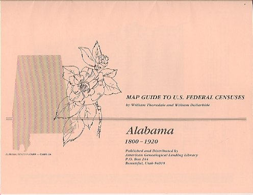 MAP: Map Guide to U. S. Federal Census:  Alabama 1800-1920, Thorndale, William & Dollarhide, William
