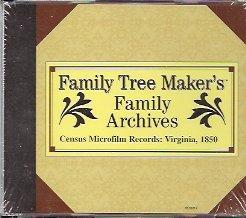 CD: Census Microfilm Records Virginia, 1850