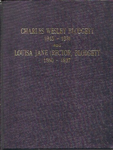 Genealogy of Charles Wesley Blodgett 1845-1931 and of his wife Louisa Jane Rector 1850-1937, Hall, Elizabeth Blodgett