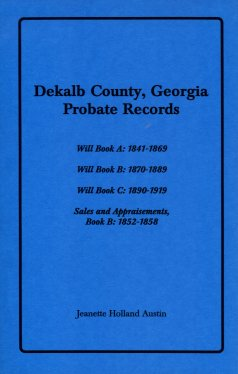 Dekalb County, Georgia Probate Records, Austin, Jeannette Holland