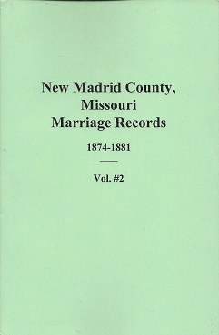 New Madrid County, Missouri Marriage Records: 1874 - 1881, Brown, Mary M.; Hedgepeth, Fay