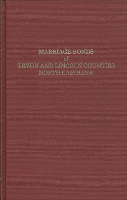 Marriage Bonds of Tryon and Lincoln Counties North Carolina, Bynum, Curtis