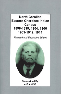 North Carolina Eastern Cherokee Indian Census 1898-1899, 1904, 1906, 1909-1912, 1914, Bowen, Jeff