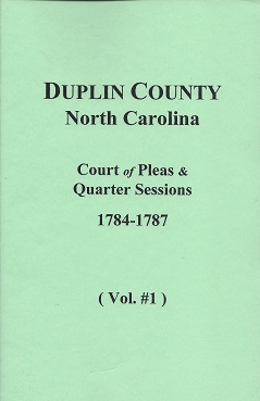 Duplin County, North Carolina Court of Pleas & Quarter Sessions, McEachern (abstractor and compiler), Leora H.