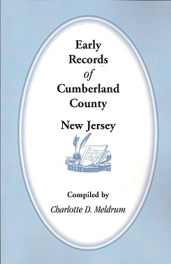 Early Records of Cumberland County, New Jersey, Meldrum, Charlotte