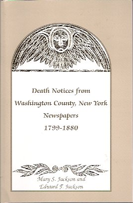 Death Notices from Washington County NY Newspapers 1799-1880., Jackson, Mary