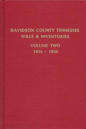 Davidson County Tennessee Wills & Inventories: 1816-1830, Marsh, Helen; Marsh, Tim