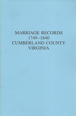 Marriage Records 1749 - 1840: Cumberland County Virginia, Elliott, Katherine B.