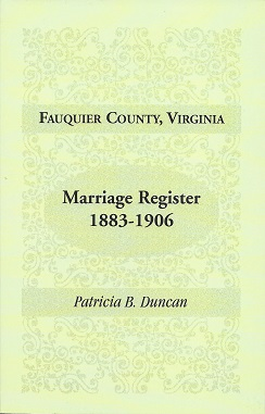 Fauquier County, Virginia, Marriage Register, 1883-1906, Duncan, Patricia B.