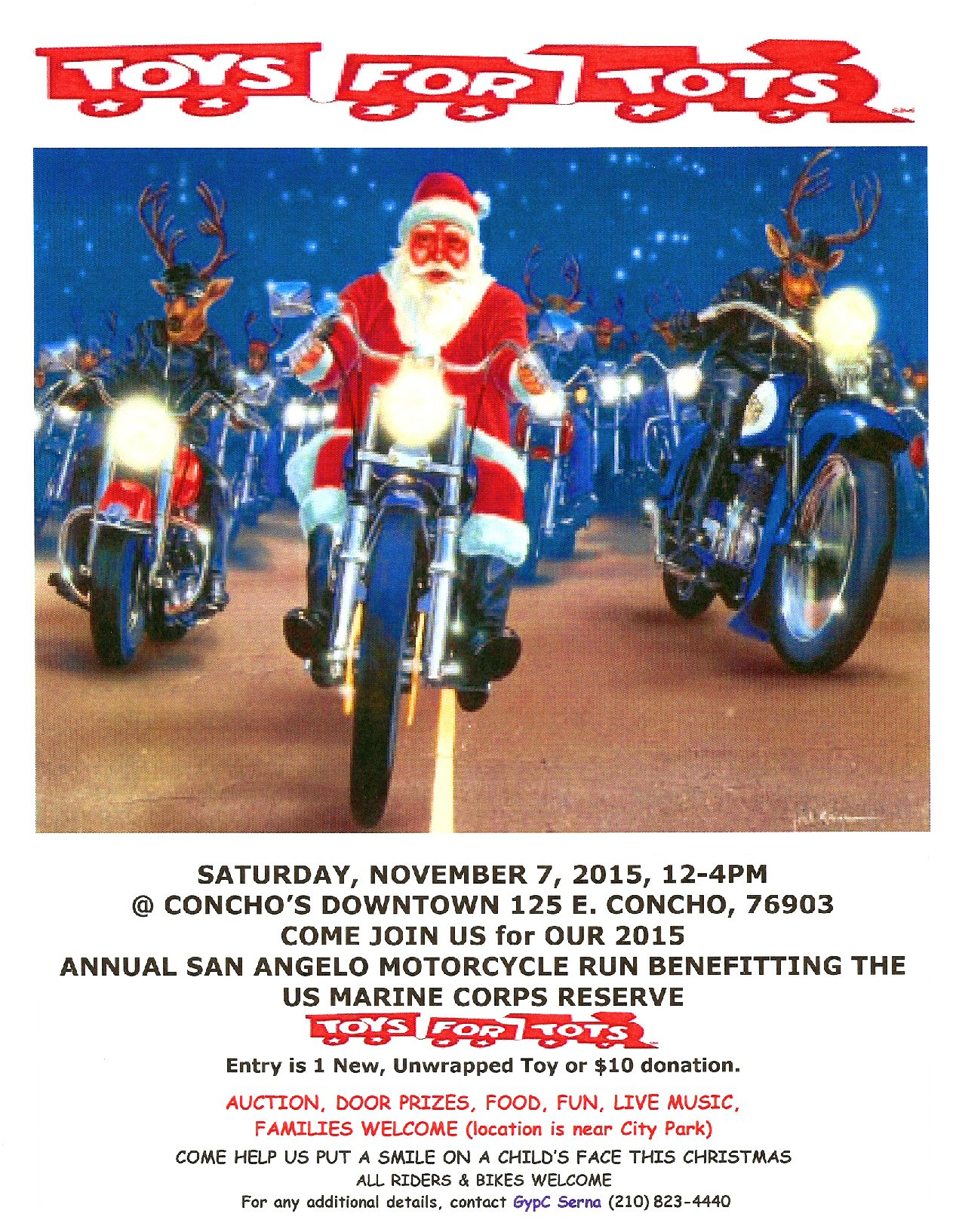 Toys For Tots Motorcycle Run : Toys for tots motorcycle run in san angelo tx