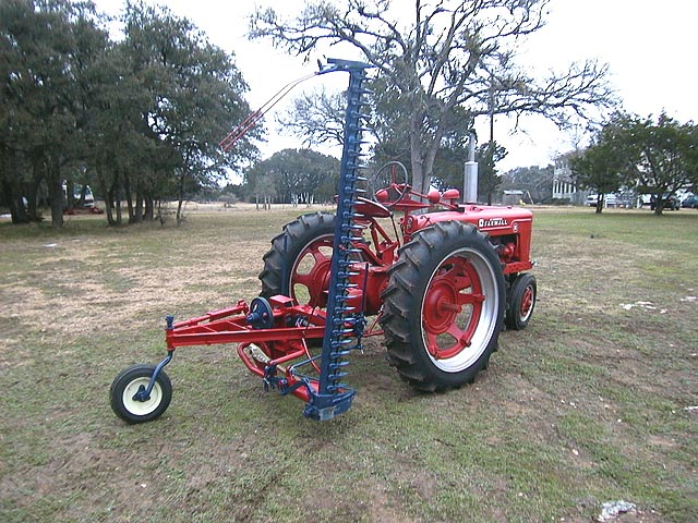 Farmall Sickle Bar Mower : Here is my h with an ih number  sickle mower