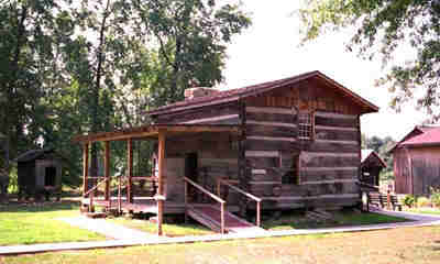 Log Cabins At The West Virginia State Farm Museum